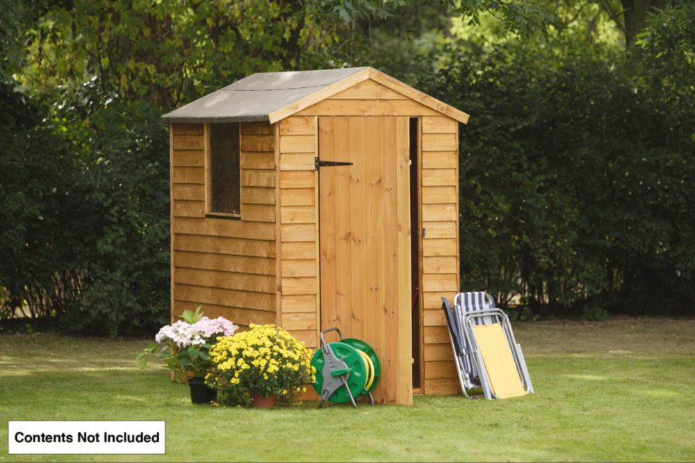 Forest Larchlap Overlap Apex Shed 4 x 6 x 7' (Nominal)