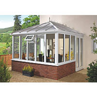 E1 uPVC Edwardian Double-Glazed Conservatory 2.53 x 2.46 x 2.98mm