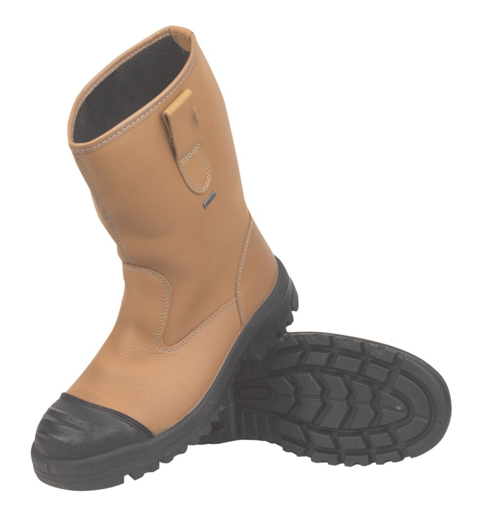 Goliath Waterproof Rigger Safety Boots Tan Size 9
