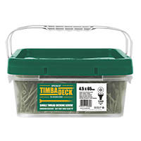 Timbadeck Countersunk Carbon Steel Decking Screws 4.5 x 65mm 1300 Pack