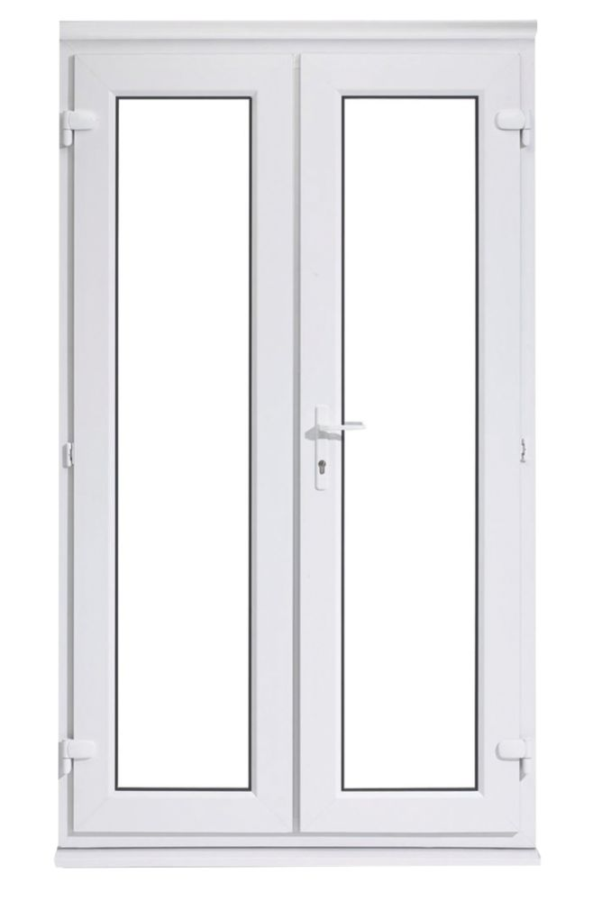 uPVC 4ft French Door White 1190 x 2090mm
