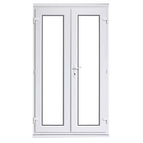 euramax upvc french door white 1190 x 2090mm doors
