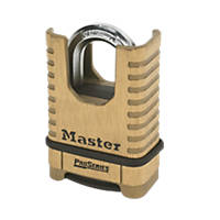 Master Lock Pro Series Solid Brass Closed Shackle Padlock Max. Shackle W x H: 42 x 24mm