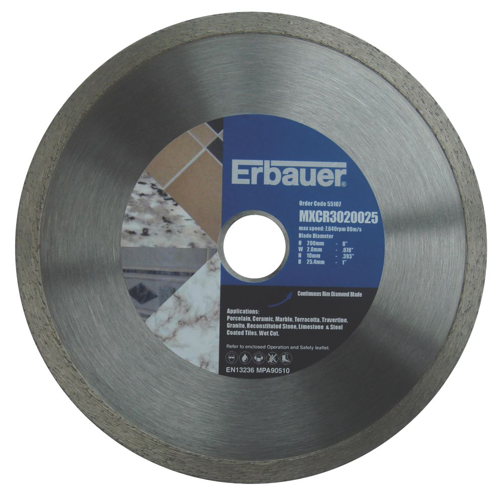 Erbauer Diamond Tile Blade 200mm