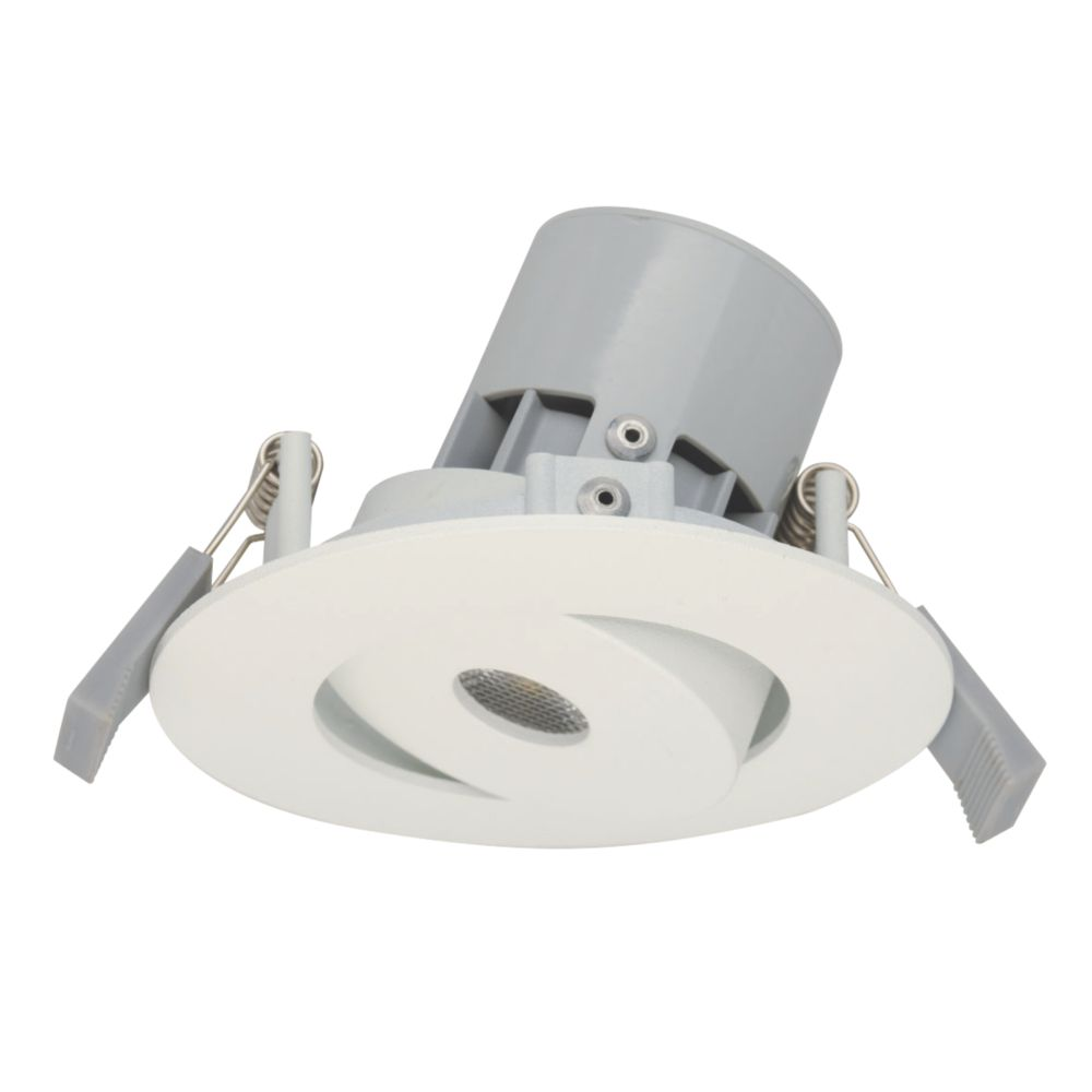 LAP Adjustable Round LED Downlight White 240V