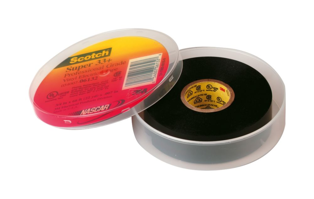 Scotch Super 33+ Premium Insulation Tape Black 19mm x 20m