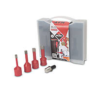 Rubi Dry Cut Diamond Tile Drill Bit Set 5 Pcs