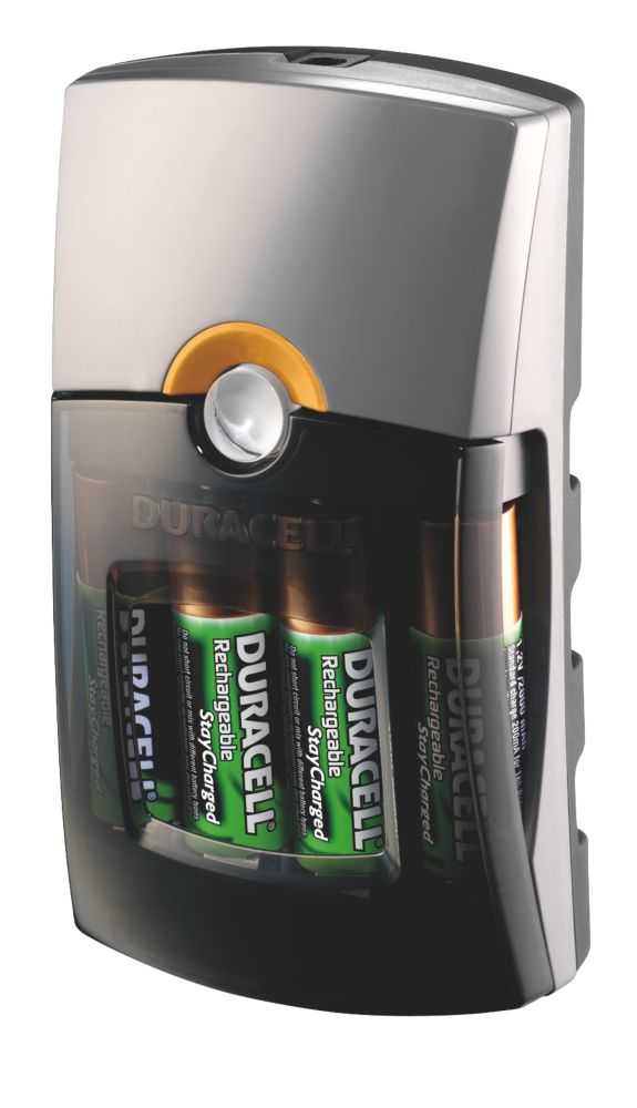 Duracell 75068805 1 Hour Charger + AA/AAA Batteries Pack