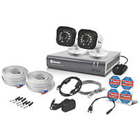 Swann SWDVK-416002-UK 4-Channel Security System & 2 Cameras