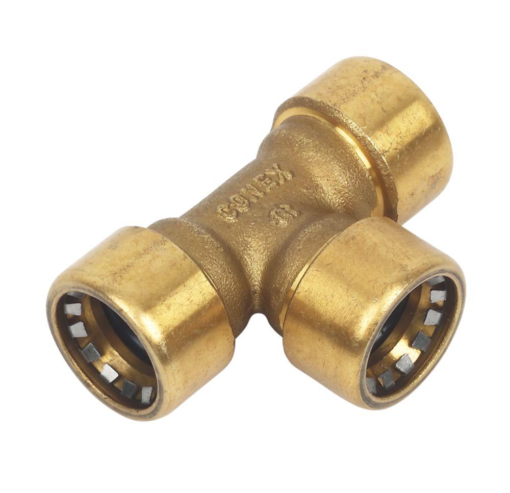 Conex Push-Fit 130 Equal Tee 15mm