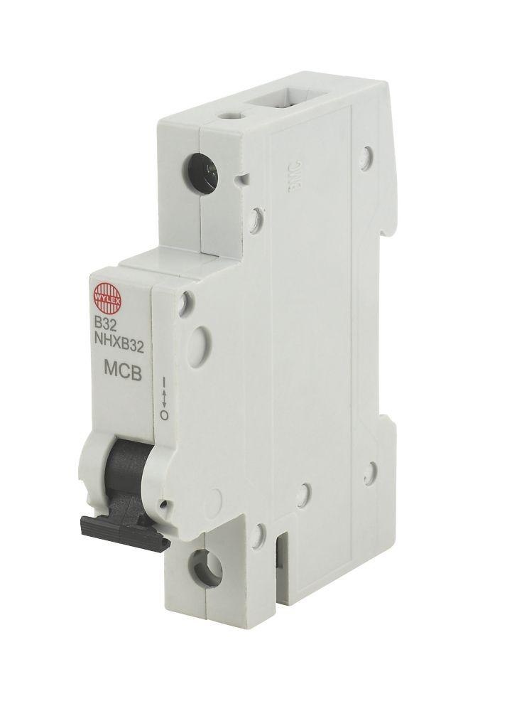 Wylex 32A SP Type B MCB 6kA Domestic Circuit Protection