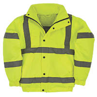 "Hi-Vis Bomber Jacket Yellow Medium 51"" Chest"