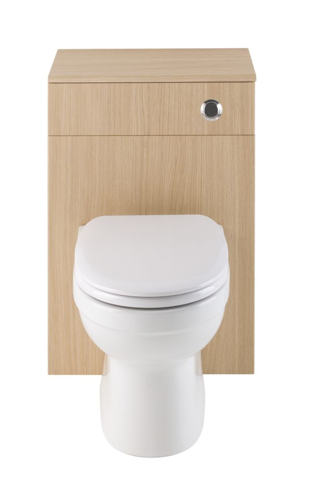 Vanity Bathroom Toilet Unit Natural Oak 500mm