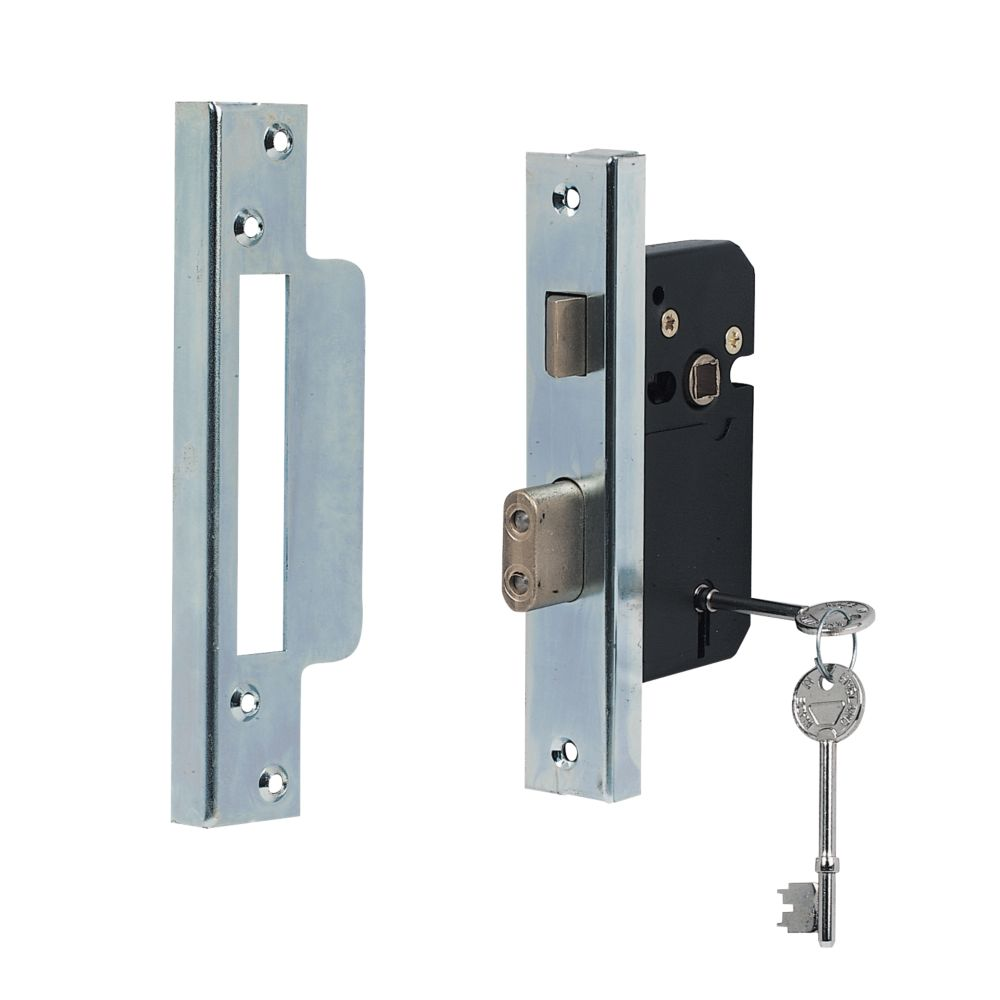 Securefast 5-Lever Standard Rebated Sashlock Chrome 2½ (64mm)