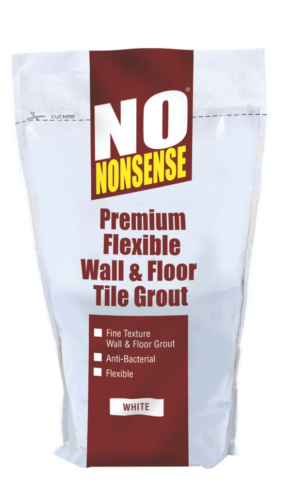 No Nonsense Multipurpose Flexible Wall & Floor Grout White 2kg