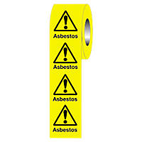 """Warning Asbestos"" Adhesive Labels 50 x 50mm"
