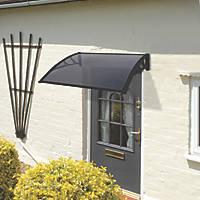 Greenhurst Easy Fit Door Canopy Black 1000 x 600 x 230mm