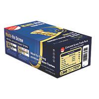 Multi-Fix Gold Concrete Screw Trade Pack