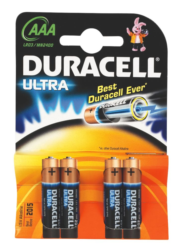 Duracell AAA 1.5V Alkaline Battery Pack of 4