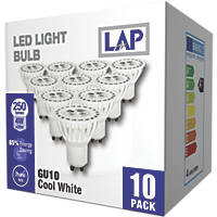 LAP GU10 LED Lamp 250lm 750Cd 4W 10 Pack