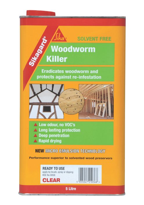 Sikagard Woodworm Killer Clear 5Ltr