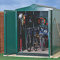Asgard Centurion Plus All-Metal Bike Store with Assembly Green 1.6 x 3.3m