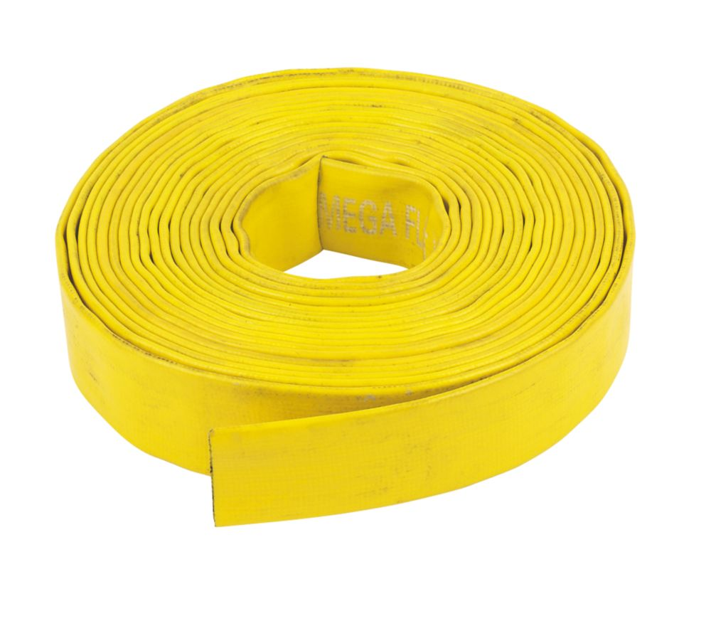 "Layflat Hose Yellow 10m x 1¼"" (32mm)"