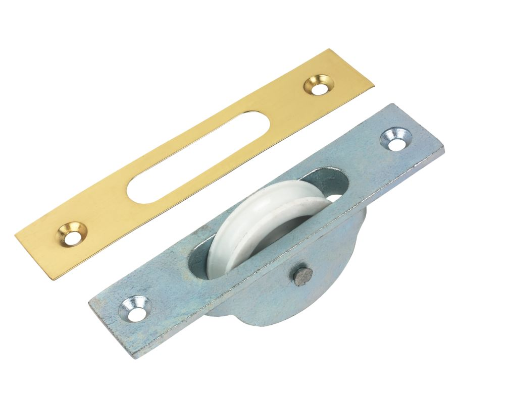 Sash Pulley Zinc Plated 120 x 25mm