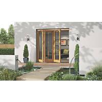 Jeld-Wen Canberra Slide & Fold Patio Door Set Golden Oak 2394 x 2094mm
