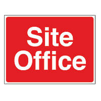 """Site Office"" Stanchion Sign 450 x 600mm"