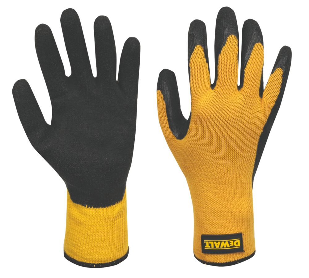 DeWalt Mechanical Hazard Gripper Gloves Yellow Large
