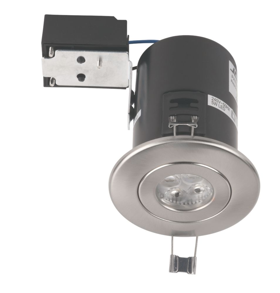 Fireguard Plus Main 5W LED Recessed Downlight Brushed Nickel