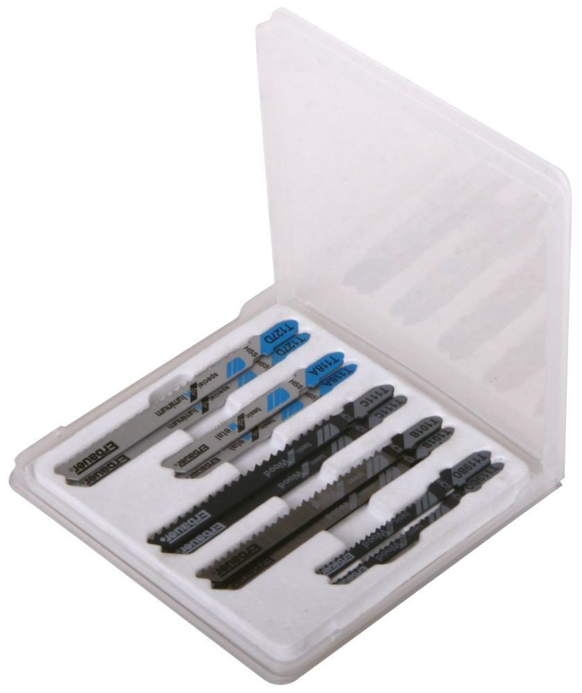Erbauer Bayonet Mixed Jigsaw Blade Set 10Pcs