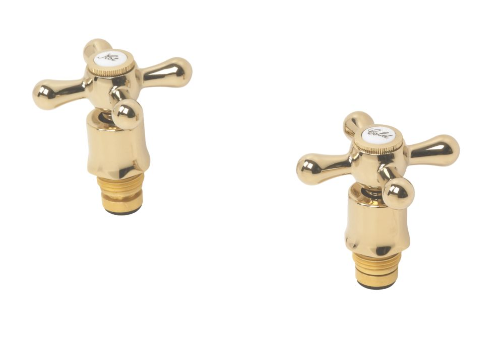 Swirl Traditional Bath Tap Reviver Kit Gold Effect