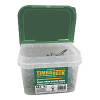 Timbadeck Double Countersunk Carbon Steel Decking Screws 4.5 x 75mm 500 Pack