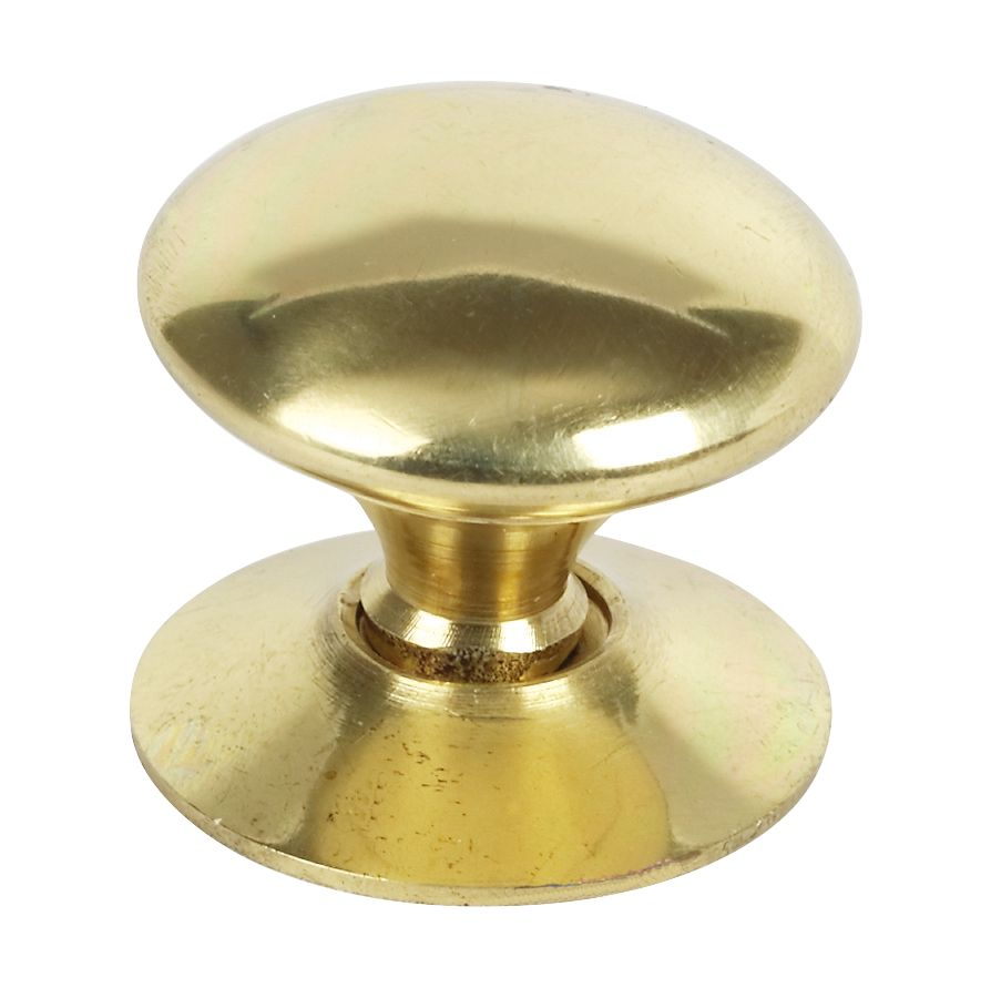 Traditional Victorian Cabinet Door Knob Polished Brass 25mm Pack of 5