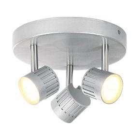 light led spotlight silver 840lm 4w ceiling spotlights screwfix