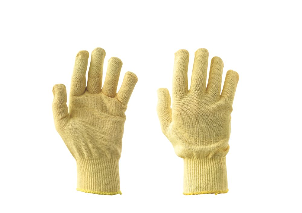 Keep Safe Cut-Resistant Kevlar Gloves Cream Large