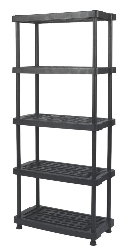 Ventilated Plastic Shelving with 200kg Shelf Capacity 5-Tier