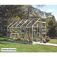 Halls Popular Framed Greenhouse Aluminium 6' x 10'