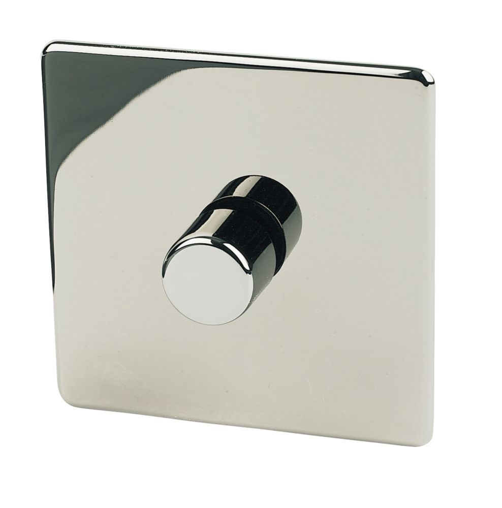 Crabtree 1-Gang 2-Way 250W Dimmer Black Nickel