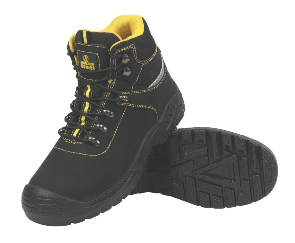 Amblers Steel Bump Cap Safety Boots Black Size 8