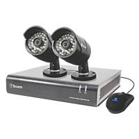 Swann SWDVK-444002 4-Channel 720p CCTV Digital Video Recorder & 2 Cameras