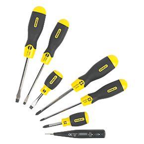 stanley comfort grip screwdriver set 7 piece set screwdrivers. Black Bedroom Furniture Sets. Home Design Ideas