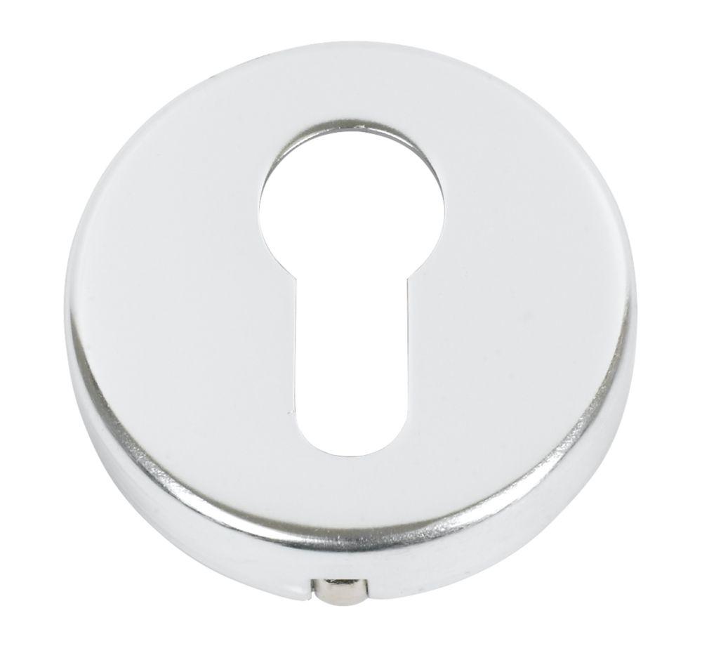 Euro Profile Escutcheon Polished Aluminium 50mm Pair