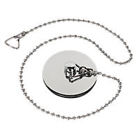 Chrome Bath Plug & Chain 16""