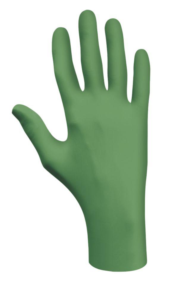 Showa Best Green-Dex 6105 Biodegradable Nitrile Gloves Green Medium Pk100