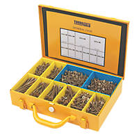 TurboGold Woodscrews General Trade Case Double Self Countersunk 1400 Pcs
