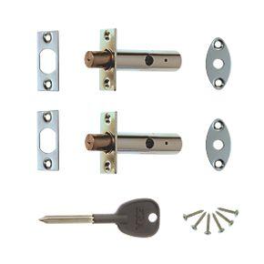 Era Brass Concealed Door Security Bolts 60mm Door Bolts