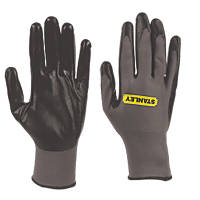 Stanley  Nitrile Gripper Gloves Grey Large
